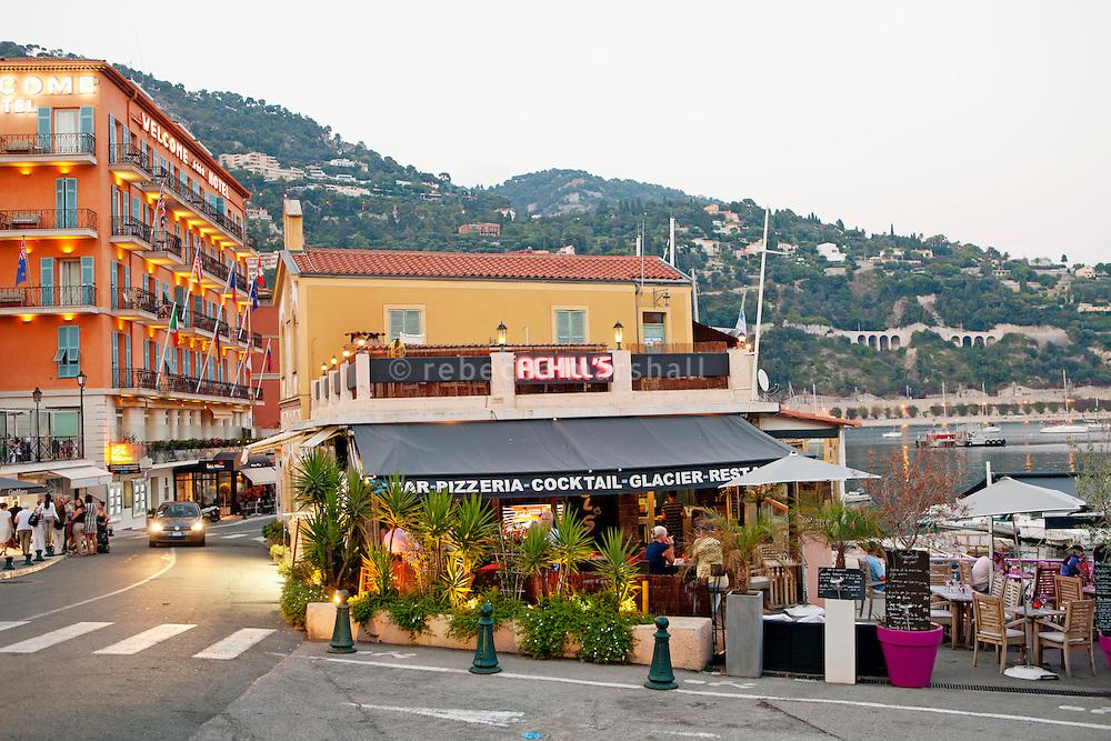 Achill's restaurant, Villefranche-sur-Mer, France, 7 September 2012.