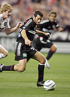 9 April 2005.  DC United's Ben Olsen (14) passes the ball to a sprinting Jaime Moreno (99) while defended by Jim Curtin (5) of Chicago at RFK Stadium in Washington, DC.