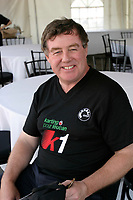 June 15 2004, Montreal (Quebec) CANADA<br /> James Cherry, President Aeroport de Montreal (ADM) take part in a  karting event to benefit LEUCAN, near Montreal, June 15 2004<br /> Photo (c) 2004, Pierre Roussel / Images Distribution