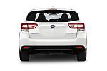 Straight rear view of 2018 Subaru Impreza Premium 5 Door Hatchback Rear View  stock images