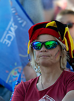 GRENOBLE, FRANCE - JUNE 22: WWC 2019 Germany fan during a game between Panama and Guyana at Stade des Alpes on June 22, 2019 in Grenoble, France.