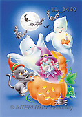 Interlitho, Lorella, REALISTIC ANIMALS, Halloween, paintings, pumpkin, bats, witch(KL3460,#A#)