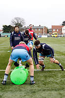 Lewis Wynne of London Scottish warms up during the Greene King IPA Championship match between Ealing Trailfinders and London Scottish Football Club at Castle Bar , West Ealing , England  on 19 January 2019. Photo by Carlton Myrie/PRiME Media Images