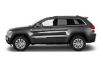 Car Driver side profile view of a 2014 JEEP Grand Cherokee Laredo 5 Door SUV Side View
