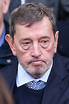 © Joel Goodman - 07973 332324 . 16/01/2014 . Salford , UK . David Blunkett , MP for Sheffield Brightside and Hillsboroug , after the service . The funeral of Labour MP Paul Goggins at Salford Cathedral today (Thursday 16th January 2014) . The MP for Wythenshawe and Sale East died aged 60 on 7th January 2014 after collapsing whilst out running on 30th December 2013 . Photo credit : Joel Goodman
