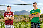 Two South Kerry football clubs put aside club rivalry as the prepare to run for Pieta House pictured here l-r; Dominic O'Sullivan - Piarsaigh na Dromoda and Ciaran Keating - Skellig Rangers.