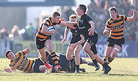SCF2016 - RBAI vs Campbell College | Thursday 17th March 2016<br /> <br /> Mark Keane bursts clear during the Ulster Schools Cup Final between RBAI and Campbell College at Kingspan Stadium, Ravenhill Park, Belfast, Northern Ireland. Photo credit: John Dickson / DICKSONDIGITAL