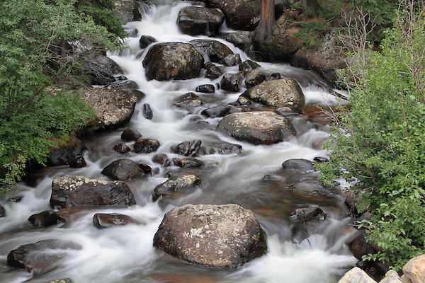 Glacier Gorge Creek in Rocky Mountain National Park, west of Estes Park, Colorado. .  John leads private photo tours throughout Colorado. Year-round Colorado photo tours.