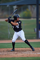 AZL White Sox Victor Torres (77) at bat during an Arizona League game against the AZL Padres 2 on June 29, 2019 at Camelback Ranch in Glendale, Arizona. The AZL Padres 2 defeated the AZL White Sox 7-3. (Zachary Lucy/Four Seam Images)