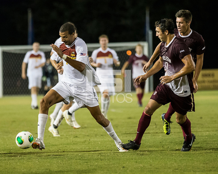 The Winthrop University Eagles played the College of Charleston Cougars at Eagles Field in Rock Hill, SC.  College of Charleston broke the 1-1 tie with a goal in the 88th minute to win 2-1.  Achille Obougou (7), Connor Coons (17)