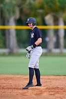 FCL Yankees Trey Sweeney (33) on second base during a game against the FCL Tigers West on July 31, 2021 at Tigertown in Lakeland, Florida.  (Mike Janes/Four Seam Images)
