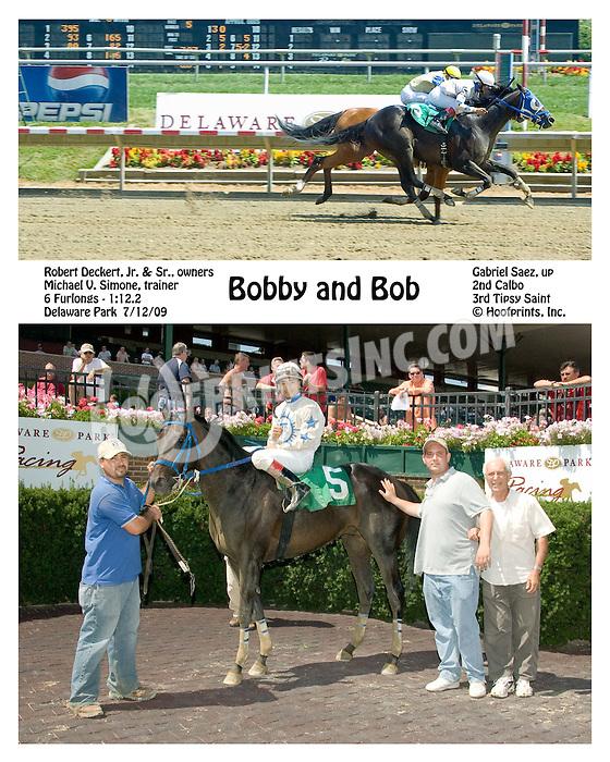 Bobby and Bob winning at Delaware Park on 7/12/09
