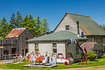 Fantastical cowboy town at Nervous Nellie's Jams & Jellies in Deer Isle, Maine, USA