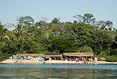 Pará State, Brazil. Xingu River. Leisure beach camp near São Félix do Xingu.