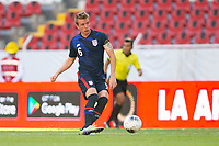 GUADALAJARA, MEXICO - MARCH 28: Jackson Yueill #6 of the United States passes off the ball during a game between Honduras and USMNT U-23 at Estadio Jalisco on March 28, 2021 in Guadalajara, Mexico.