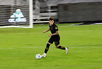 CARSON, CA - OCTOBER 28: Brian Rodriguez #17 of the Los Angeles FC moves with the ball during a game between Houston Dynamo and Los Angeles FC at Banc of California Stadium on October 28, 2020 in Carson, California.