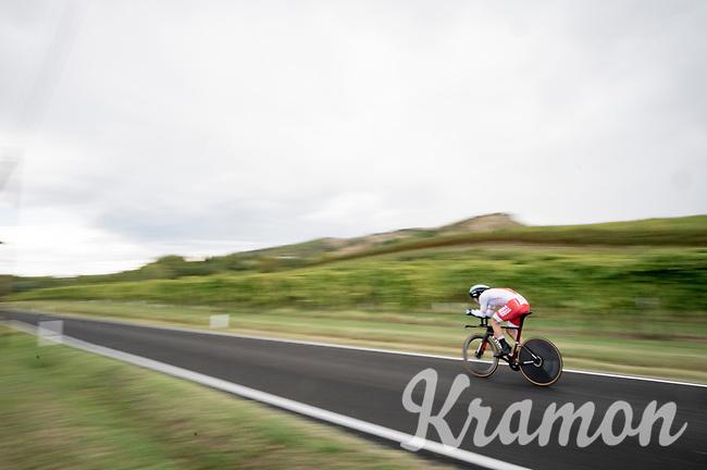 Maciej Bodnar (POL/BORA-hansgrohe)<br /> <br /> Men's Elite Time trial from Imola to Imola (31.7km)<br /> <br /> 87th UCI Road World Championships 2020 - ITT (WC)<br /> <br /> ©kramon