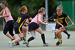 GER - Hannover, Germany, May 31: During the Women Lacrosse Playoffs 2015 match between KIT SC Karlsruhe (pink) and HTHC Hamburg (black) on May 31, 2015 at Deutscher Hockey-Club Hannover e.V. in Hannover, Germany. Final score 3:18. (Photo by Dirk Markgraf / www.265-images.com) *** Local caption *** Jennifer Karle #15 of HTHC Hamburg