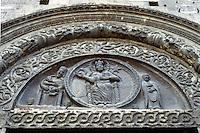 Italy: Assisi--Portal, Duomo San Rufino. 12th Century Romanesque. Photo'85.