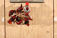 2 February 2008: Stanford Cardinal (not in order) Candice Wiggins, Jillian Harmon, Rosalyn Gold-Onwude, Hannah Donaghe, Jeanette Pohlen, JJ Hones, and Cissy Pierce during Stanford's 75-62 win against the UCLA Bruins at Maples Pavilion in Stanford, CA.