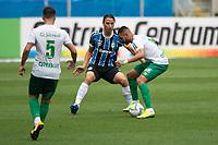 18th November 2020; Arena de Gremio, Porto Alegre, Brazil; Brazil Cup, Gremio versus Cuiaba; Pedro Geromel of Gremio challenges Maxwell of Cuiaba for the loose ball