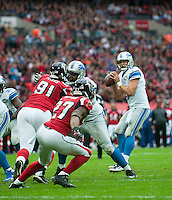 26.10.2014.  London, England.  NFL International Series. Atlanta Falcons versus Detroit Lions. Lions' QB Matthew Stafford [9] in action.