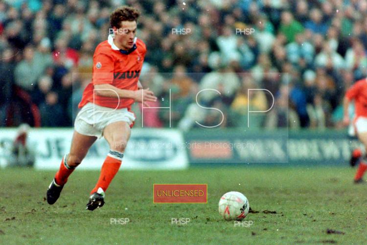 05/01/1991 FAC 3 Round Blackpool v Tottenham Hotspur<br /> <br /> Paul Groves