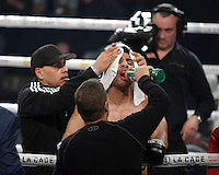 Ayaz ''the machine'' Hussain fight and defeat Jacek Wylezol, March 12,2016.<br /> <br /> Photo : Pierre Roussel  -  Agence Quebec Presse