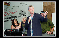 Billy Bragg hosts the Jail Guitar Doors premiere of the film 'Breaking Rocks' held at the The Proud Gallery, Camden on the 1st October 2009.