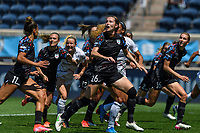 BRIDGEVIEW, IL - JUNE 5: Tierna Davidson #26 of the Chicago Red Stars plays a free kick during a game between North Carolina Courage and Chicago Red Stars at SeatGeek Stadium on June 5, 2021 in Bridgeview, Illinois.
