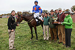 Members of the Mecklenburg horse accepts The Genesee Valley Hunt Cup and purse of $25,000 during the Genesee Valley Hunt Races on The Nations Farm in Geneseo, New York on October 13, 2012