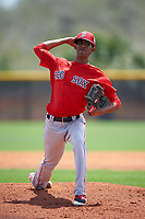 Boston Red Sox Roniel Raudes (55) during a minor league Spring Training game against the Tampa Bay Rays on March 23, 2016 at Charlotte Sports Park in Port Charlotte, Florida.  (Mike Janes/Four Seam Images)