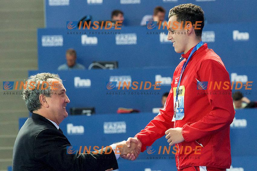 GUY James GBR, BARELLI Paolo ITA<br /> 400 Freestyle Men Final Silver Medal<br /> Swimming Kazan Arena<br /> Day10 02/08/2015<br /> XVI FINA World Championships Aquatics Swimming<br /> Kazan Tatarstan RUS July 24 - Aug. 9 2015 <br /> Photo G.Scala/Deepbluemedia/Insidefoto