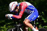Groupama-FDJ in action during Stage 13 of the 2019 Tour de France an individual time trial running 27.2km from Pau to Pau, France. 19th July 2019.<br /> Picture: ASO/Alex Broadway | Cyclefile<br /> All photos usage must carry mandatory copyright credit (© Cyclefile | ASO/Alex Broadway)