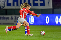 Standard forward Davinia Vanmechelen (25) pictured during a female soccer game between  AA Gent Ladies and Standard Femina de Liege on the 8 th matchday of the 2020 - 2021 season of Belgian Scooore Womens Super League , friday 20 th of November 2020  in Oostakker , Belgium . PHOTO SPORTPIX.BE | SPP | STIJN AUDOOREN