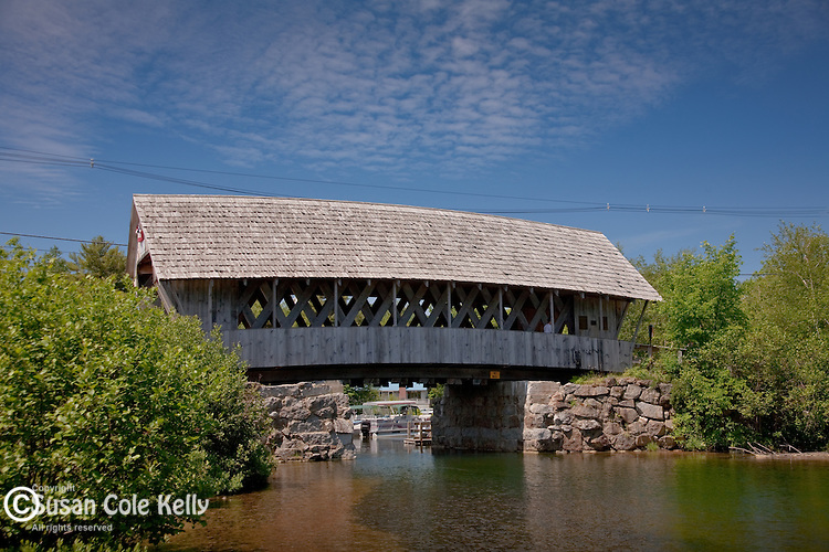 The Squam River covered bridge in Holderness, NH