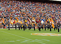 KNOXVILLE, TN - OCTOBER 5: Tennessee color guard prior to the game during a game between University of Georgia Bulldogs and University of Tennessee Volunteers at Neyland Stadium on October 5, 2019 in Knoxville, Tennessee.