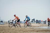 Pim Ronhaar (NED/Pauwels Sauzen-Bingoal) leading the way<br /> <br /> UCI 2021 Cyclocross World Championships - Ostend, Belgium<br /> <br /> U23 Men's Race<br /> <br /> ©kramon