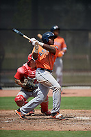 Houston Astros Ronnie Dawson (2) during a minor league Spring Training game against the Washington Nationals on March 28, 2017 at the FITTEAM Ballpark of the Palm Beaches in West Palm Beach, Florida.  (Mike Janes/Four Seam Images)