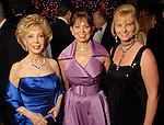 Margaret Williams, Danielle Ellis and Linda Rogers at the Houston Symphony's opening night gala dinner at The Corinthian Saturday Sept. 12, 2009. (Dave Rossman/For the Chronicle)