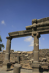 Israel, Korazin, the remains of the Synagogue from the 4th Century A.D.