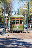 Garden District, New Orleans, Louisiana.  St. Charles Streetcar.