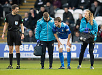 St Mirren v St Johnstone…26.12.18…   St Mirren Park    SPFL<br />An injured Murray Davidson is helped off the pitch by physio Mel Stewart and club Dr Mike Reidy<br />Picture by Graeme Hart. <br />Copyright Perthshire Picture Agency<br />Tel: 01738 623350  Mobile: 07990 594431