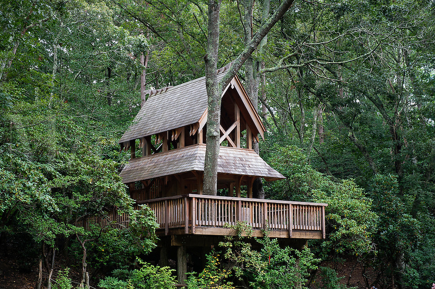 Tree house, Hidden Hollow, Heritage Museums and Gardens, Sandwich, Massachusetts, USA