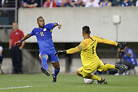 PHILADELPHIA, PENNSYLVANIA - JUNE 30: Gevaro Nepomuceno #11, Zack Steffen #1 during the 2019 CONCACAF Gold Cup quarterfinal match between the United States and Curacao at Lincoln Financial Field on June 30, 2019 in Philadelphia, Pennsylvania.