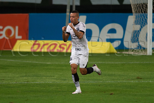 14th November 2020; Arena de Gremio, Porto Alegre, Brazil; Brazilian Serie A football league, Gremio versus Ceara; Kelvyn of Ceará celebrates his goal in the 37th minute for 2-1