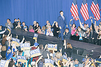 Democratic presidential candidate and former South Bend, Ind., mayor Pete Buttigieg takes to the stage to speak at his Primary Night rally at Nashua Community College in Nashua, New Hampshire, on Tue., Feb. 11, 2020. Democratic presidential candidate and Vermont senator Bernie Sanders was projected to win the New Hampshire Democratic Primary, but Buttigieg came in a close second.