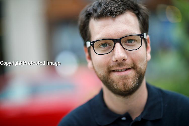 Le chef du Parti vert ,Alex Tyrrell,<br /> elections 2018<br /> <br /> PHOTO : Agence Quebec Presse