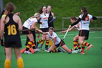 Wellington v Waikato. 2021 National Women's Under-18 Hockey Tournament day five at National Hockey Stadium in Wellington, New Zealand on Thursday, 15 July 2021. Photo: Dave Lintott / lintottphoto.co.nz https://bwmedia.photoshelter.com/gallery-collection/Under-18-Hockey-Nationals-2021/C0000T49v1kln8qk