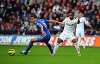 Saturday, 03 November 2012<br /> Pictured: Wayne Routledge of Swansea (R) against Oriol Romeu of Chelsea (L)<br /> Re: Barclays Premier League, Swansea City FC v Chelsea at the Liberty Stadium, south Wales.
